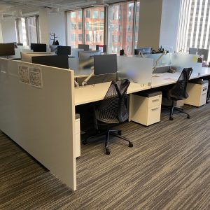Herman Miller Canvas Fixed Height Stations with Glass