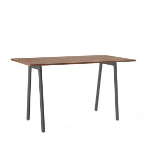 Poppin Series A Standing Table, Walnut