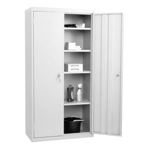 2 Door Storage Cabinet, Fully Assembled