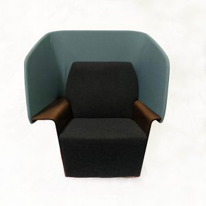 Allsteel Reflect Lounge Chair Blue back only