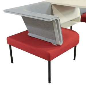 Herman Miller Public Office Landscape Used Social Chairs with Cafe Table, Gray Mesh and Chutney