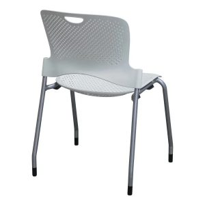 Herman Miller Caper Used Stack Chair, White