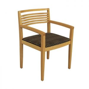 Knoll Ricchio Used Wood Side Chair, Multicolored Pattern