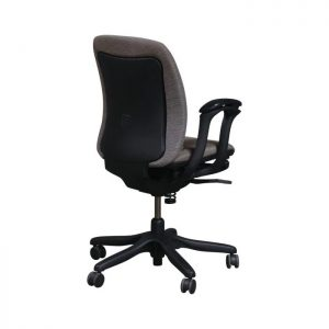 Teknion Amicus Synchro Used Conference Chair, Taupe Line Pattern