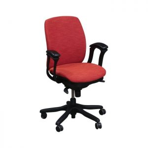 Teknion Amicus Synchro Used Conference Chair, Poppy Orange