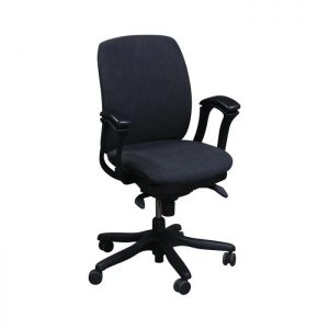 Teknion Amicus Synchro Used Conference Chair, Smoke Gray