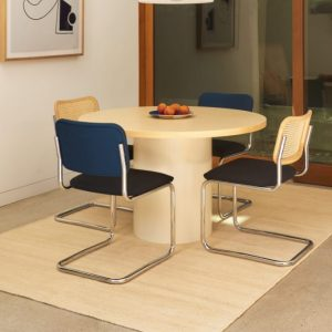 NNU Round Canteen Table, Natural-White
